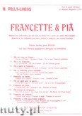 Okładka: Villa-Lobos Heitor, No. 4 Pia et Francette jouent ensemble...