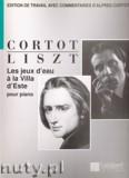 Okładka: Liszt Ferenc, Les jeux d'eau a la Villa d'Este pour piano