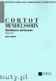 Okładka: Mendelssohn-Bartholdy Feliks, Variations Sérieuses, Op. 54