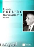Okładka: Poulenc Francis, Improvisation No. 14