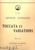 Okładka: Honegger Arthur, Toccata And Variations