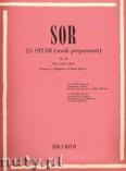 Okładka: Sor Fernando, 25 Studi (studi preparatori) per Chitarra, Op. 60