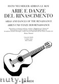 Okładka: Neusidler Hans, Roy Adrian Le, Arie e danze del rinascimento, 1 fascicolo