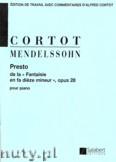 Ok�adka: Mendelssohn-Bartholdy Feliks, Presto de la Fantaisie en fa dieze mineur pour piano, opus 28