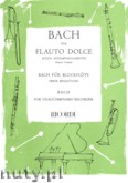 Ok�adka: Bach Johann Sebastian, Flauto Dolce