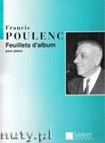 Okładka: Poulenc Francis, Feuillets D'album pour piano