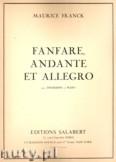 Ok�adka: Franck Maurice, Fanfare Andante Et Allegro