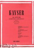 Okładka: Kayser Heinrich Ernst, 36 Studi Elementare e, Progressivi per Violino, Op. 20 Book 3