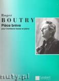 Okładka: Boutry Roger, Piece breve pour trombone basse et piano