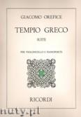 Okładka: Orefice Giacomo, Tempio Greco Suite per Violoncello e Pianoforte