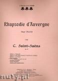Okładka: Saint-Saëns Camille, Rapsodie d'Auvergne, Op. 73