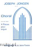 Okładka: Jongen Joseph, Choral Des 4 Pieces, Op. 37