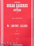 Okładka: Dowland John, Mr. Langton's Galliard