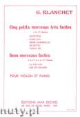 Okładka: Blanchet Georges, Carillon, Cinq petits morceaux tres faciles pour violon (1re position) et piano