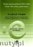 Okładka: Chopin Fryderyk, Cztery mazurki na fortepian op. 6, w transkrypcji na gitarę