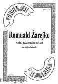 Ok�adka: �arejko Romuald, Anio� pasterzom m�wi� na 3 alt�wki (partytura + g�osy)