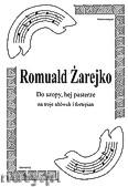 Okładka: Żarejko Romuald, Do szopy hej pasterze na 3 altówki i fortepian (partytura + głosy)