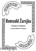 Okładka: Żarejko Romuald, Dzisiaj w Betlejem na 3 altówki i fortepian (partytura + głosy)