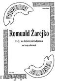 Okładka: Żarejko Romuald, Hej, w dzień narodzenia na 3 altówki (partytura + głosy)