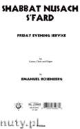 Ok�adka: Rosenberg Emanuel, Shabbat Nusach S'fard