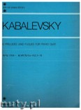 Ok�adka: Kabalevsky Dmitri, 6 Preludes and Fugues for Piano, op. 61