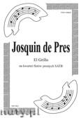 Okładka: Pres Jasquin des, El Grillo - madrygał na kwartet fletów prostych