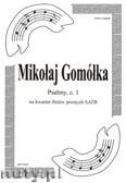 Ok�adka: Gom�ka Miko�aj, Psalmy na kwartet flet�w prostych (partytura + g�osy), z. 1