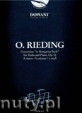 Ok�adka: Rieding Oskar, Concertino In Hungarian Style For Violine Und Klavier Op. 21 In A Minor