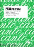 Ok�adka: Paderewski Ignacy Jan, Dwana�cie pie�ni op. 22 na g�os i fortepian