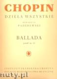 Okładka: Chopin Fryderyk, Ballada g-moll op. 23 na fortepian solo