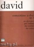 Ok�adka: David Ferdinand, Concertino A-dur op. 3 na skrzypce