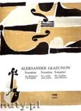 Okładka: Głazunow Aleksander, Sonatina na skrzypce i fortepian