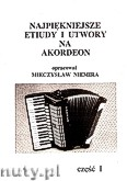 Okładka: Niemira Mieczysław, Najpiękniejsze etiudy i utwory na akordeon, z. 1