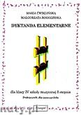Okładka: Ćwiklińska Maria, Rogozińska Małgorzata, Dyktanda elementarne dla klasy-IV szkoły muzycznej I stopnia. Podręcznik nauczyciela