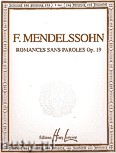 Ok�adka: Mendelssohn-Bartholdy Feliks, Romances Sans Paroles Op. 19 pour piano