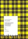 Okładka: Przybylski Bronisław Kazimierz, 4 nokturny kurpiowskie na harfę (gitarę) i 12 Wiolonczel