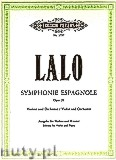 Okładka: Lalo Édouard Victor Antoine, Symphonie Espagnole for Violin and Orchestra, Op. 21