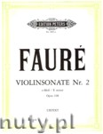 Ok�adka: Faur� Gabriel, Violin Sonata No.2 in E minor, Op.108