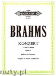 Ok�adka: Brahms Johannes, Concerto in D Op. 77 for Violin and Orchestra (Edition for Violin and Piano)