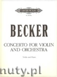Ok�adka: Becker John, Violin Concerto (in one movement) (Vln-Pf)