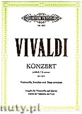 Okładka: Vivaldi Antonio, Concerto in A minor for Violoncello, Strings and basso continuo, RV 442