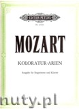 Ok�adka: Mozart Wolfgang Amadeusz, Coloratura Arias for Soprano and Piano