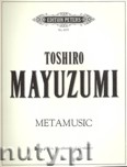 Okładka: Mayuzumi Toshiro, Metamusic for Piano, Violin and Saxophone