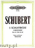 Ok�adka: Schubert Franz, 3 Sonatinas Op. post. 137 for Violin and Piano