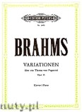 Okładka: Brahms Johannes, Variations on a Theme by Paganini (Complete) Op.35 for Piano