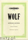 Okładka: Wolf Hugo, Songs to poetry by Eduardo Mörike for Voice and Piano, Vol. 1