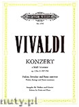 Ok�adka: Vivaldi Antonio, Concerto in A minor for Violin and Piano, Op. 3, No. 6 / RV 356