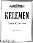 Okładka: Kelemen Milko, Dessins commentés - Sieben  Klavierstücke
