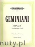 Okładka: Geminiani Francesco Saverio, Sonata in D minor Op. 5 No. 2 for Violoncello and Basso continuo