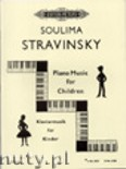 Okładka: Stravinsky Soulima, Piano Music for Children, Vol. 1